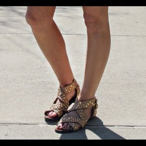 Gold Studded Sandals